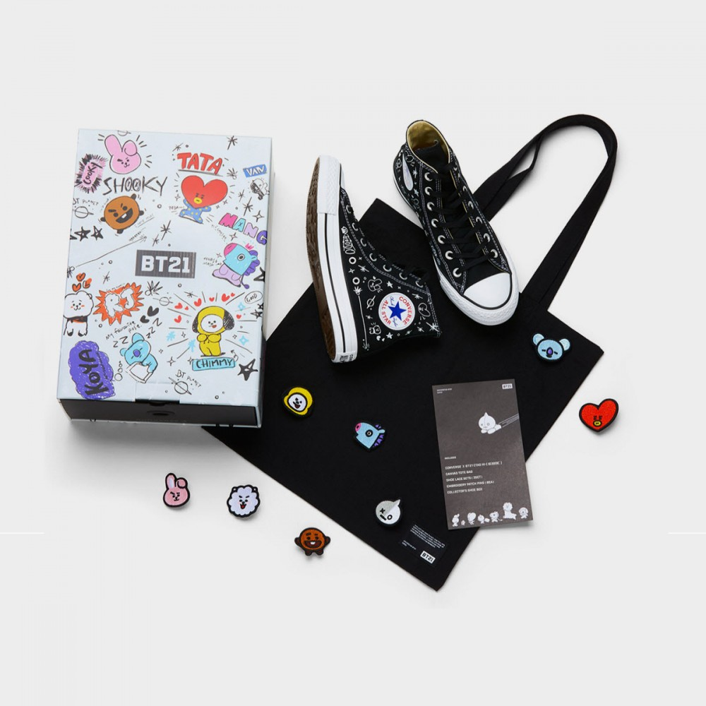 d8b905588874 CONVERSE X BT21 CHUCK TAYLOY ALL STAR LOW TOP - BLACK. Display all pictures